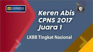 CPNS Kemenkumham D. I. Yogyakarta Raih Juara 1 LKBB Tingkat Nasional