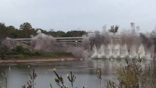 Highway 76 Bridge Demolition in Slow Motion