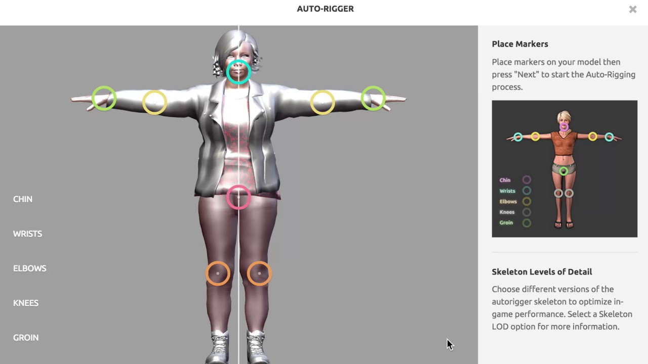 Rig Your 3d Characters Automatically Auto Rigger Mixamo