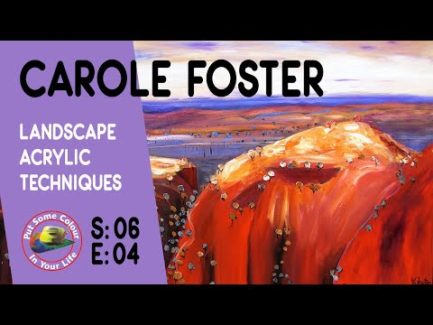 Fine art tips on How to Paint Landscapes in Acrylics with Carole Foster on Colour In Your Life - 동영상