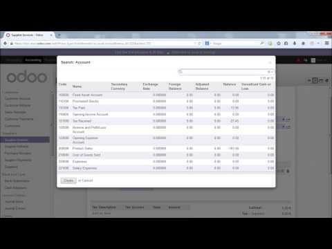 Module Accounting Odoo OpenERP