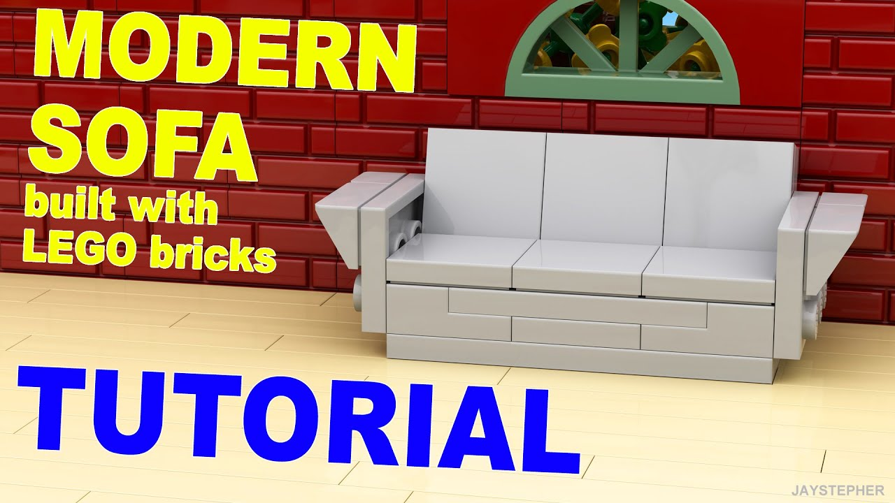 how to make a simple lego sofa design institute tutorial modern cc youtube