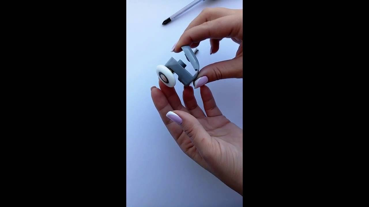 How to replace shower door rollers B43 (Top) - YouTube