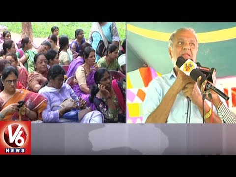 Kodandaram & Narayana Support Contract Lecturers Protest | Demands Regularisation | V6 News