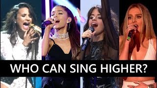 Famous Singers' HIGHEST Belted / Powerful Vocals Compilation (Live)