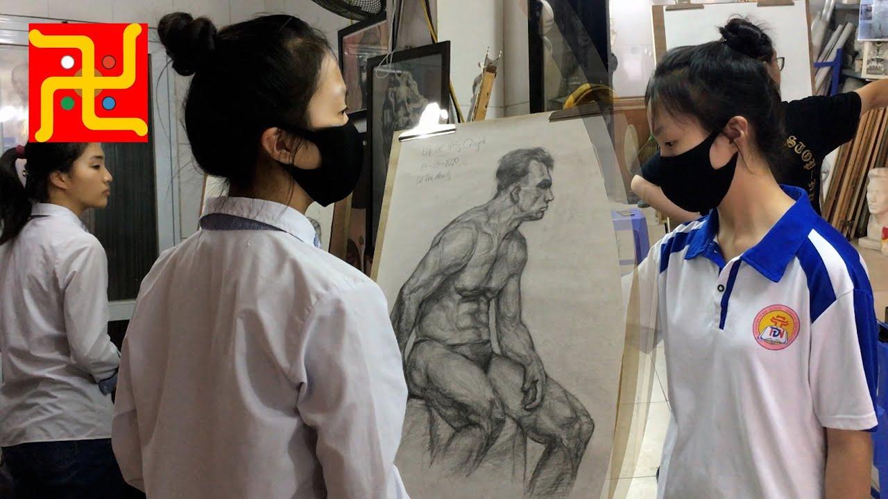 Hướng dẫn vẽ Hình Họa Người thi ĐH Mỹ Thuật Việt Nam cho bé Tư Mã Ý yêu
