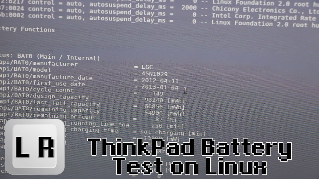 How to Test your Thinkpad X220 battery in Linux and other Information