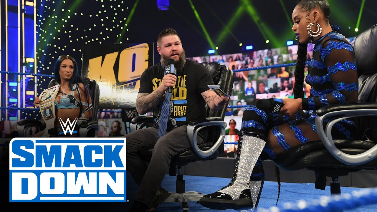 """The Kevin Owens Show"" welcomes Sasha Banks and Bianca Belair: SmackDown, March 12, 2021"