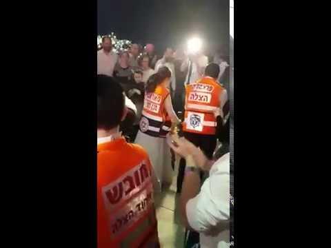 Representing United Hatzalah at the wedding of Chanina and Sara Landesman