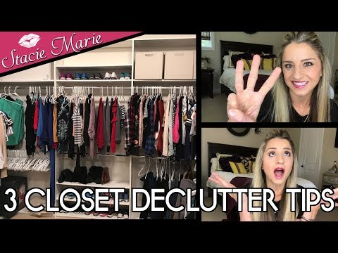 CLOSET DECLUTTER MAKEOVER ✨ 3 Simple Quick Tips Revealed