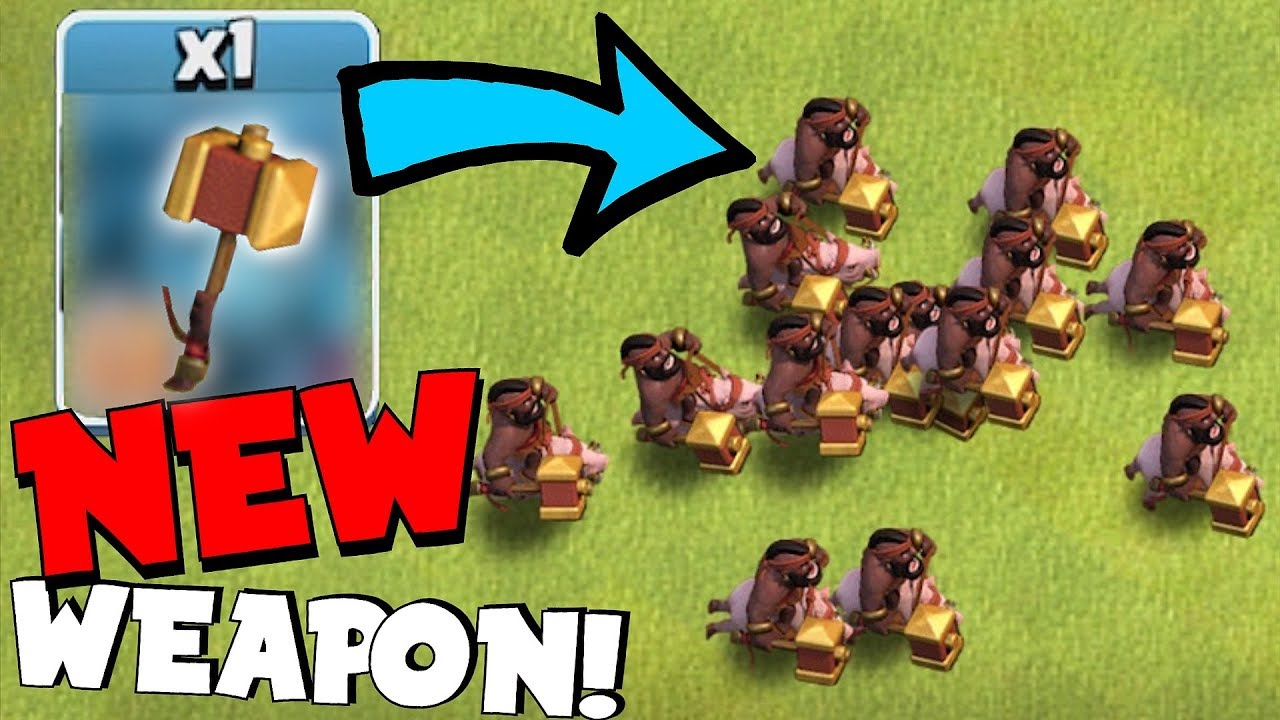 "NEW WEAPON FOR HOG RIDERS!! ""Clash Of Clans"" LVL 8 UPGRADES!!"