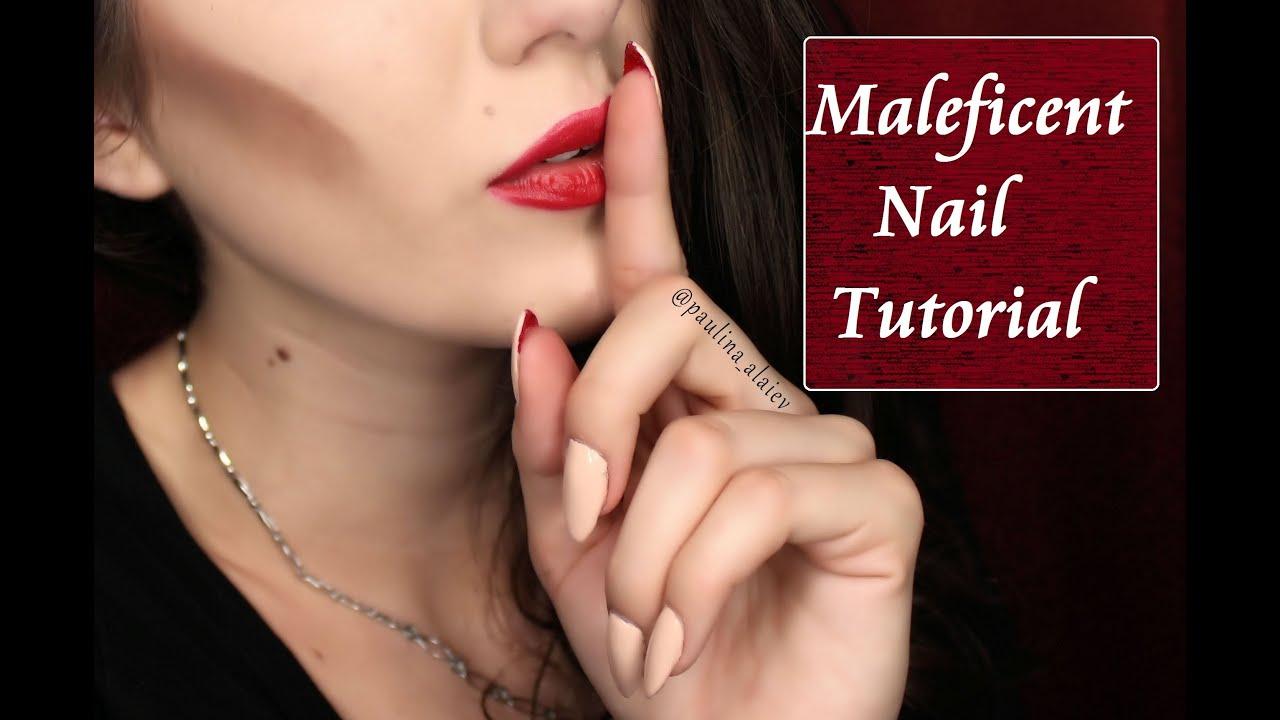 Maleficent Nail Tutorial - YouTube