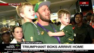Second Group Of Triumphant Boks Arrive Back Home