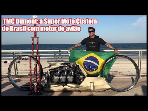  TMC Dumont: a Super Moto Custom do Brasil com motor de avião