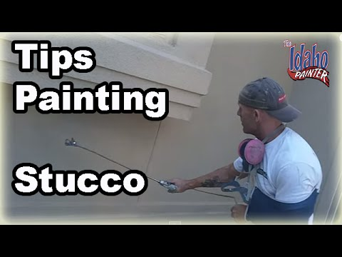 How To Prep Paint Stucco Painting Stucco With A Paint Sprayer Youtube