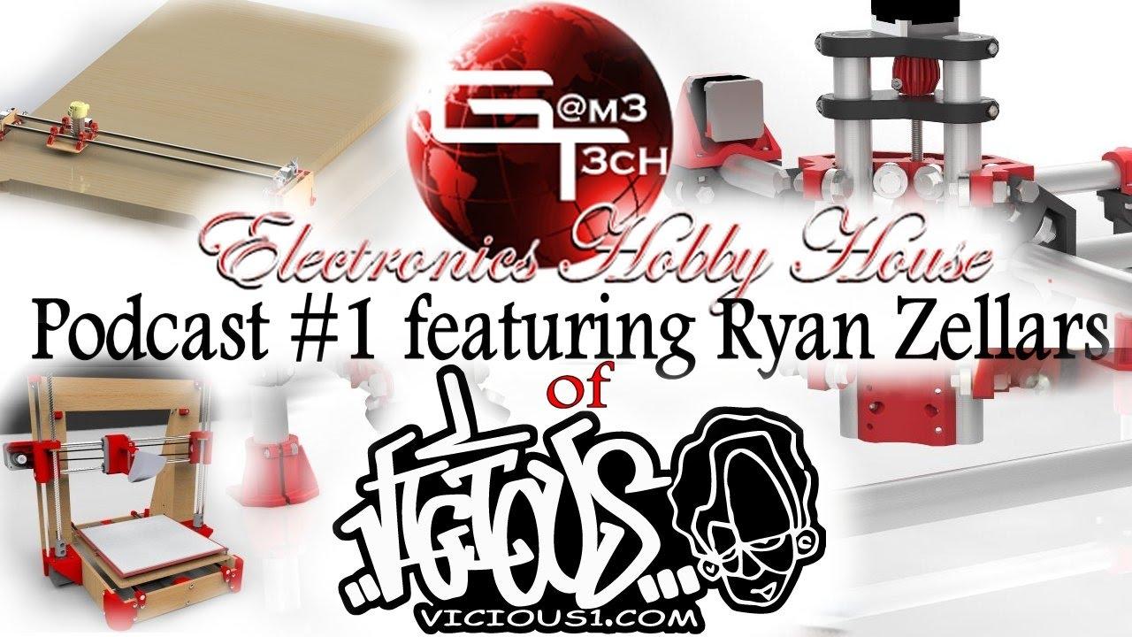 Podcast #1 Featuring Ryan Zellars of Vicious1 com MPCNC Creator
