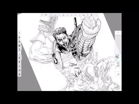 Morning Warm Up with J. Andrew World inking Rob Liefeld