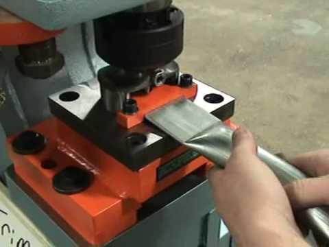 Scotchman Combination Trim, Radius & Punch For Tubing, Using DO95 Ironworker - custom tooling