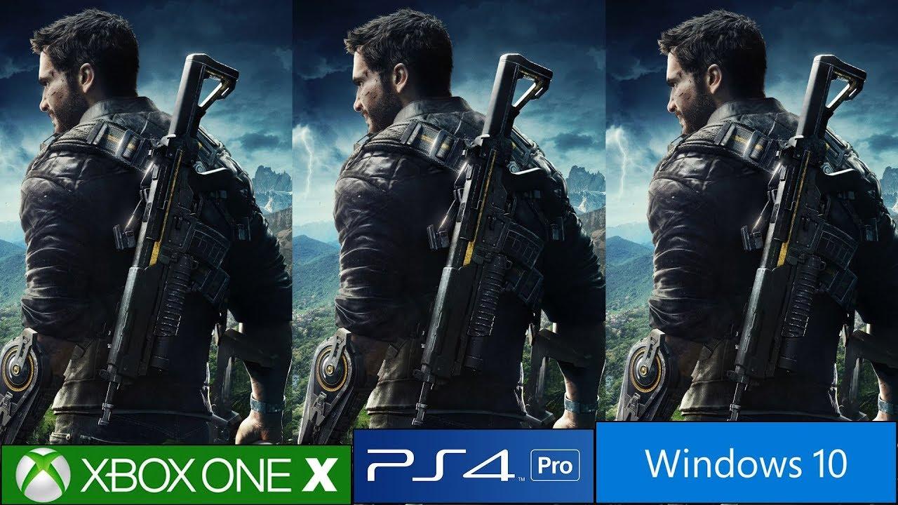 Just Cause 4 PS4 Pro vs Xbox One X vs PC Graphics Comparison