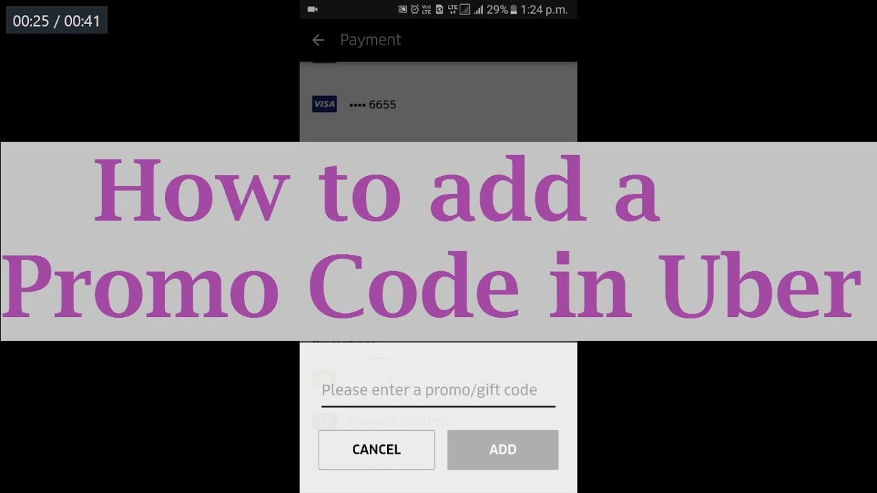 How To Apply A Promo Code In Uber Youtube