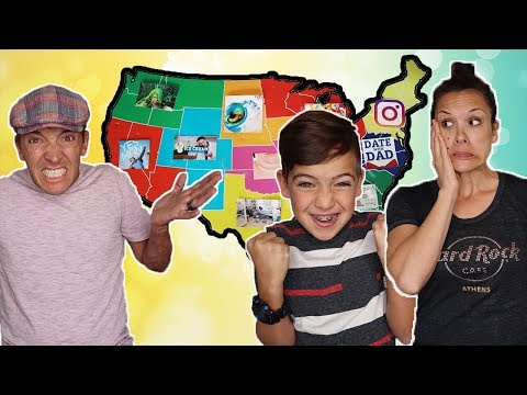 THROWING a DART at a MAP & Doing WHATEVER CHALLENGE!  Kids REVENGE on Parents!