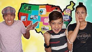 Download THROWING a DART at a MAP & Doing WHATEVER CHALLENGE!  Kids REVENGE on Parents! Mp3 and Videos