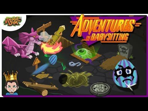 ADVENTURES IN BABYSITTING - ANIMAL JAM SKIT - AJ PET EGGS