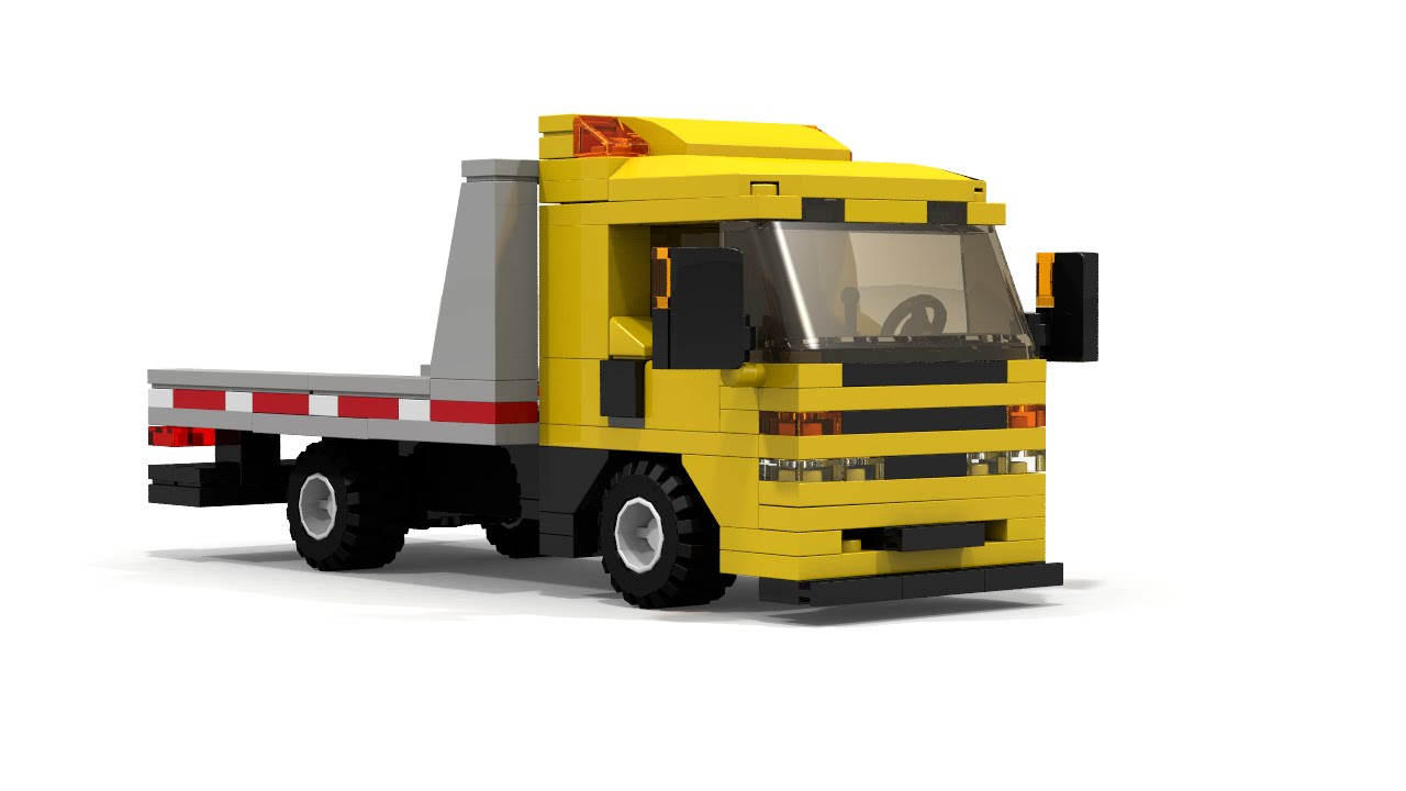 Lego City Flatbed Tow Truck Instructions Youtube