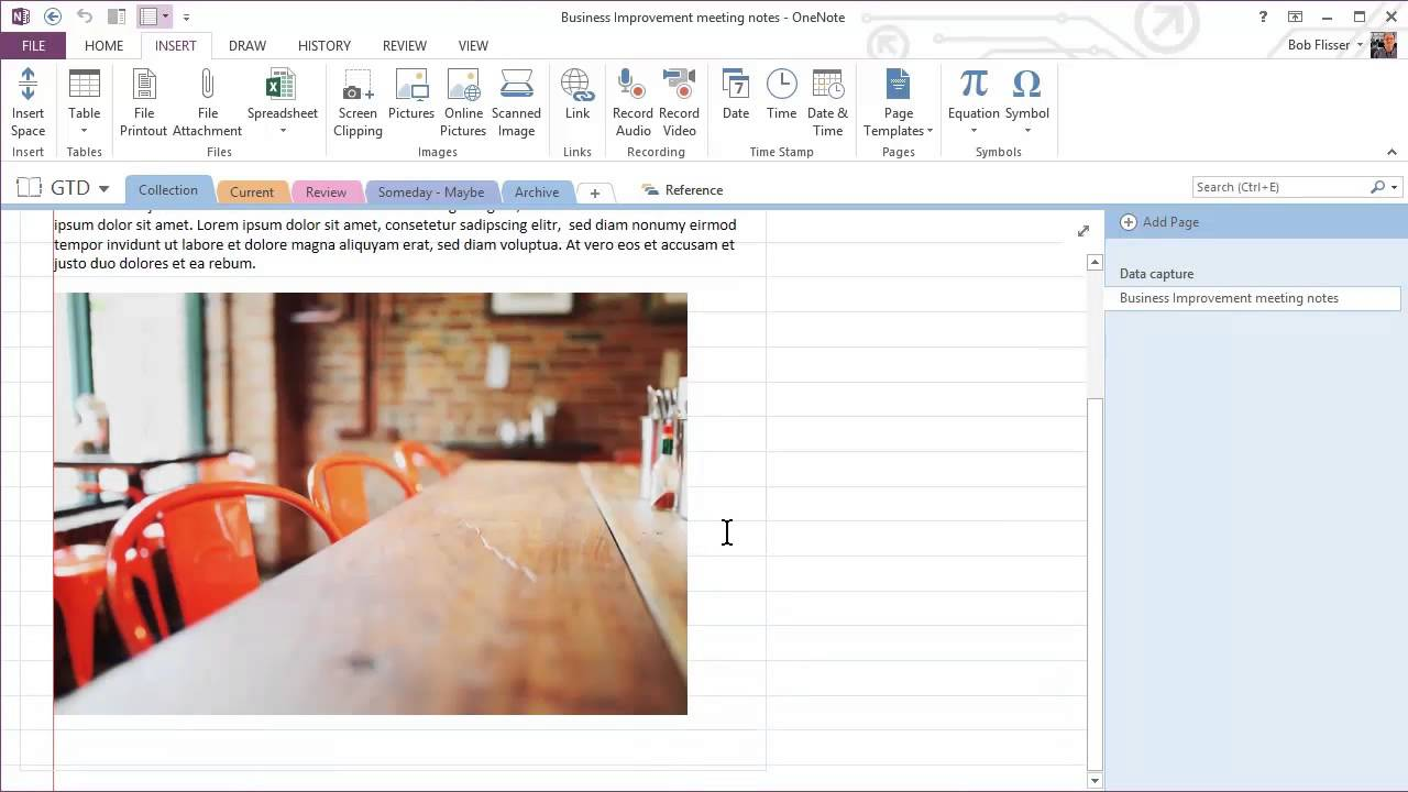OneNote GTD: Productivity with Freeform Notes