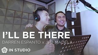 Darren Espanto And Jed Madela I Ll Be There Recording Session