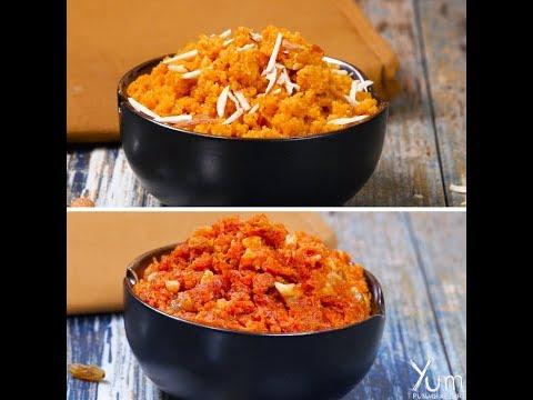 2 Ways Halwa | Healthy Halwa | Low Fat Carrot Halwa