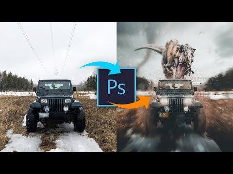 Dramatic T-Rex Chase Scene | Photoshop Tutorial thumbnail