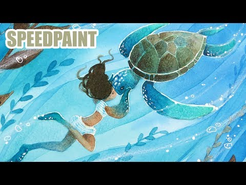 Sea Turtle Legends - Animal Artists Collective - watercolor illustration