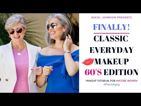 CLASSIC EVERYDAY MAKEUP with Style At A Certain Age  | 60'S EDITION | Nikol Johnson thumbnail