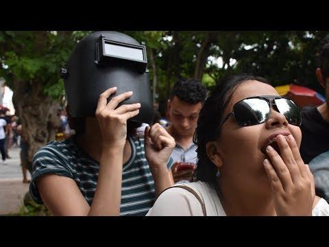 Así se vivió el eclipse de sol en Barranquilla
