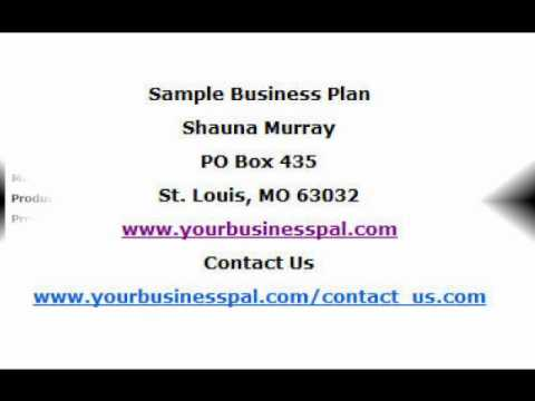Small business plan sample youtube for 3pl rfp template