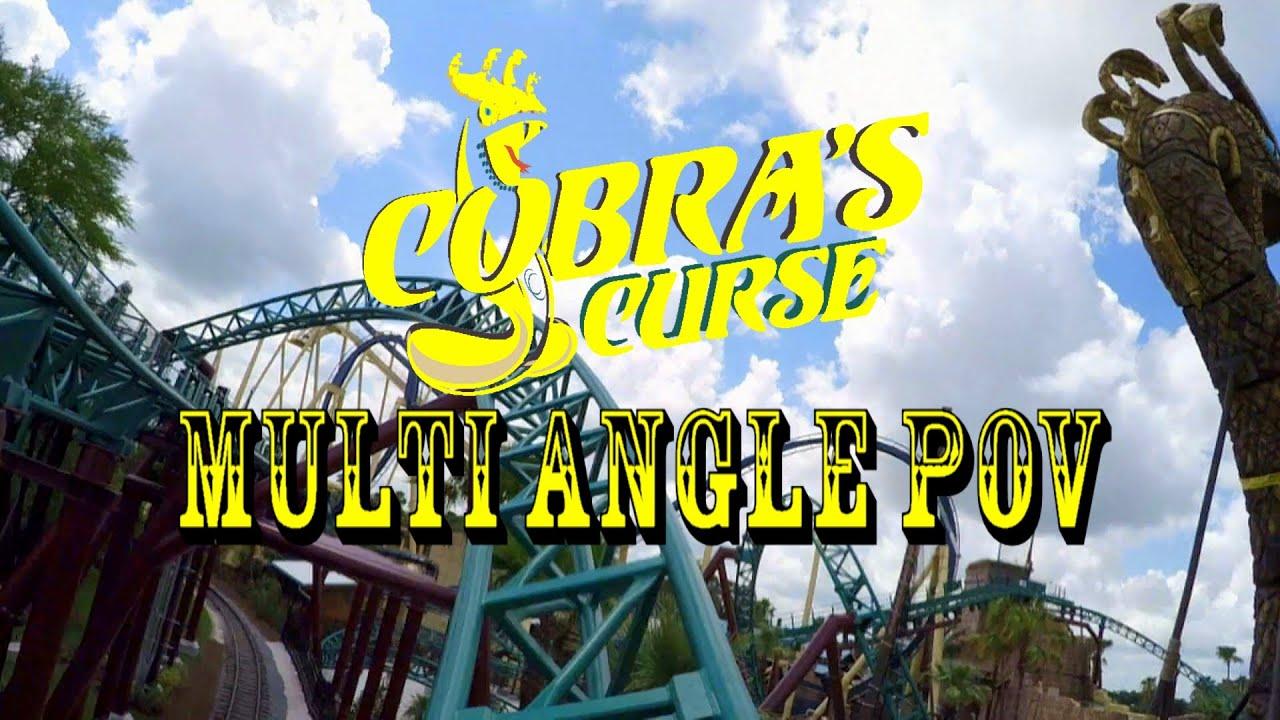 Busch Gardens Tampa Bay Cobra 39 S Curse Roller Coaster Multiple Angle Pov In Hd Youtube