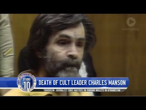 Death Of Cult Leader Charles Manson | Studio 10
