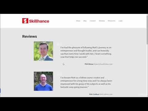 Create and Sell Online Courses with Teachable and Thinkific : Skillhance Reviews Page