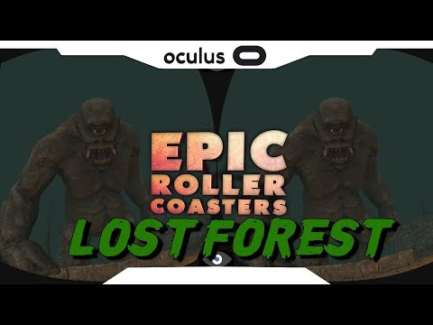 SBS 1080p► Epic Roller Coaster • LOST FOREST Samsung Gear VR Gameplay • Realidade Virtual
