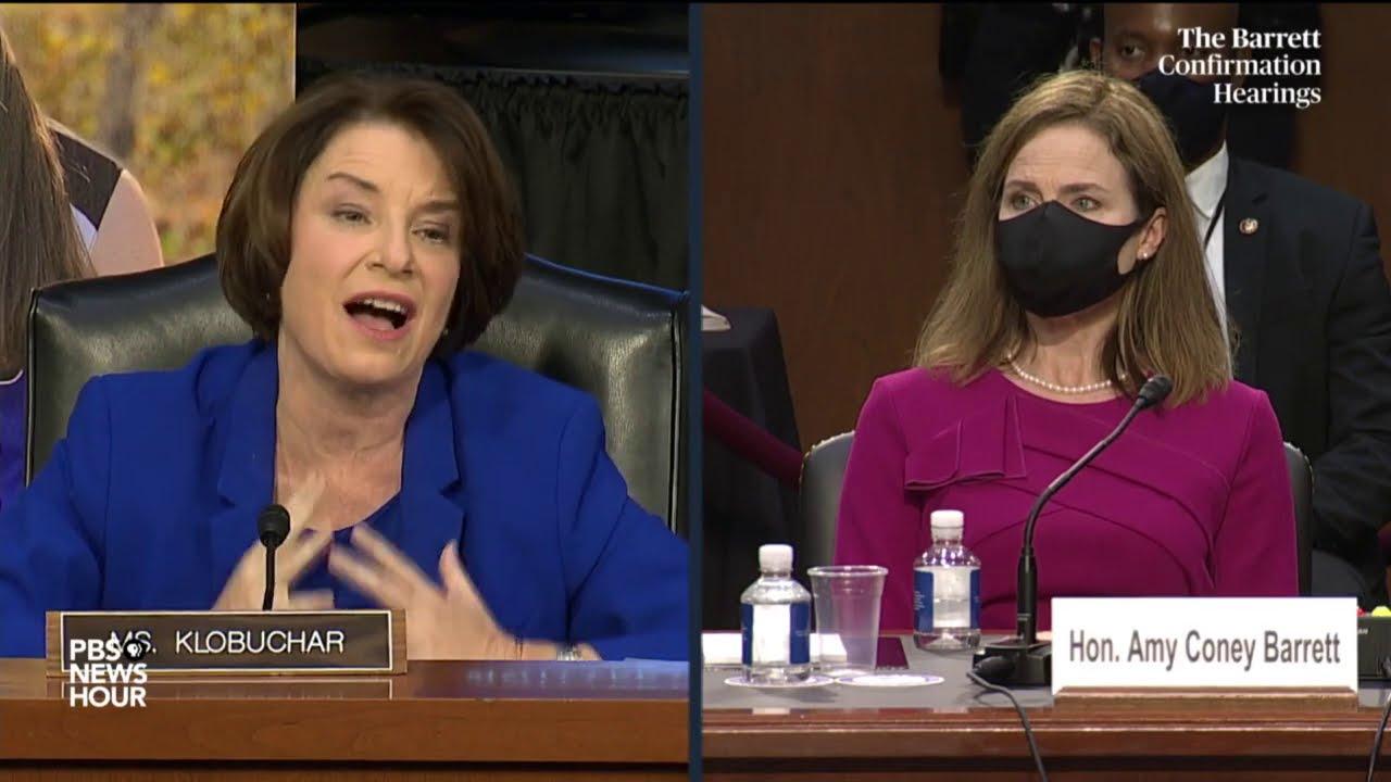 At Supreme Court hearing, Amy Klobuchar statements make news