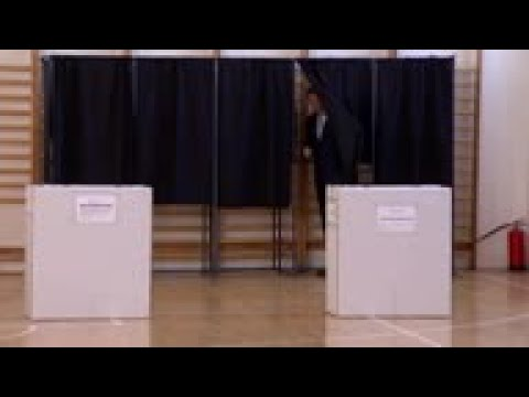 Romanian president votes in EU elections