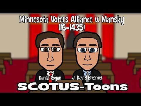 Minnesota Voters Alliance v. Mansky (SCOTUS-Toons)