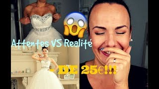 ATTENTE VS REALITE Aliexpress : Robes de mariée à - de 25€