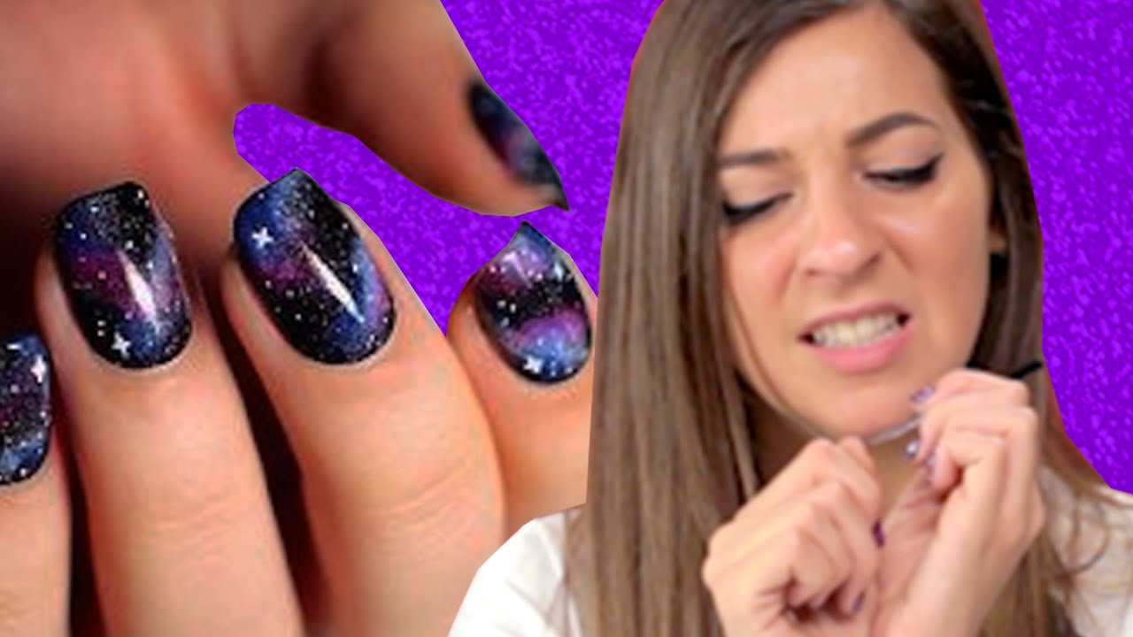 Regular People Try Pinterest Nail Art - YouTube
