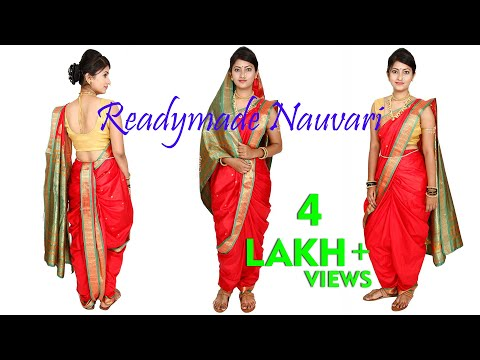 How To Make And Wear Maharashtrian Readymade Nauvari Saree.