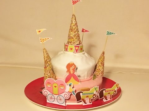 recette g teau d 39 anniversaire ch teau de princesse how to make a princess castle cake youtube. Black Bedroom Furniture Sets. Home Design Ideas
