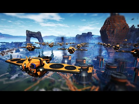 I Used Drones to Make a Nightmare Factory Even Worse - Satisfactory |