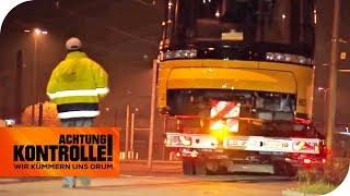 Straßenbahn-Schwerlasttransport kämpft mit Tücken!   Achtung Kontrolle   kabel eins
