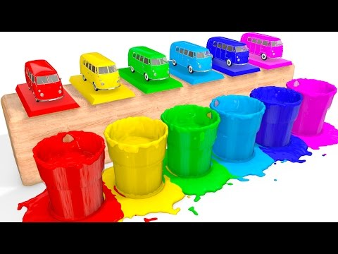 Thumbnail: Learn Colors with BUS Toy and Cars Coloring Superheroes for babies - Colors for Kids